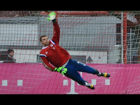 Manuel Neuer – High Diving Saves – Goalkeeper Training | Torwart Training Paraden | FC Bayern Munich