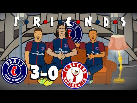 ☕MCN are FRIENDS☕ PSG vs Bayern Munich 3-0 (Champions League 2017 Parody Goals and Highlights)