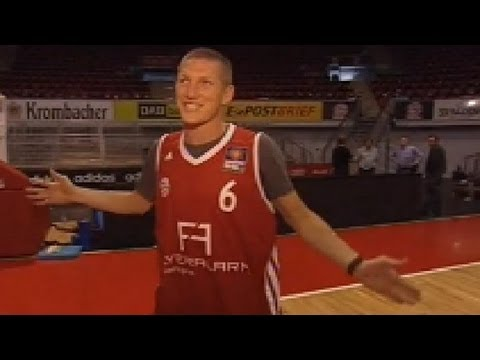 Basketball-Star Schweinsteiger – Shoot-Out gegen Hamann – Bayern München  – BBL – SPORT1