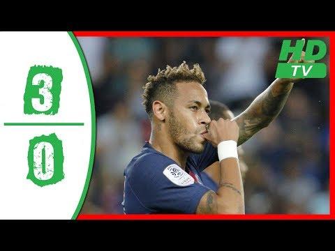 PSG vs Caen 3-0 Highlights 2018