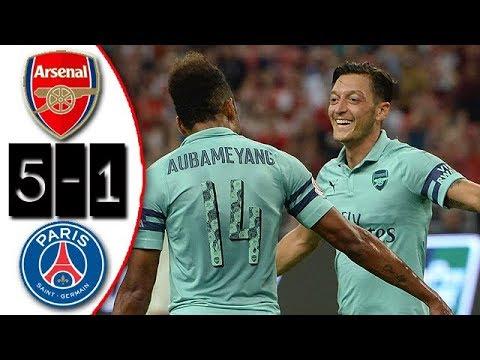 Arsenal vs PSG 5-1 Resumen Highlights ICC 2018