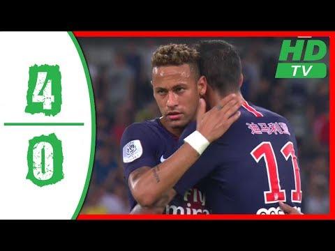 PSG vs AS Monaco 4-0 Highlights 2018