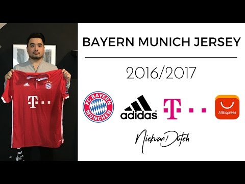 FC Bayern Munich Jersey 2016/2017 Aliexpress Unboxing and Review Adidas Football Shirt