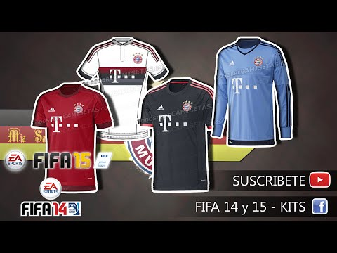 Fifa KIT'S – Bayern Munich 2015 ( HOME – AWAY – THIRD – GK )