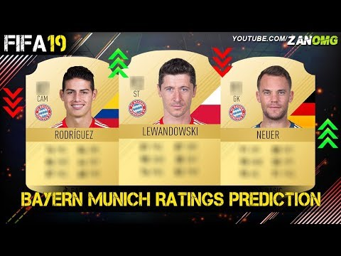 FIFA 19 | BAYERN MUNICH PLAYERS RATING PREDICTION!! | FT. NEUER, LEWANDOWSKI, JAMES RODRIGUEZ…etc