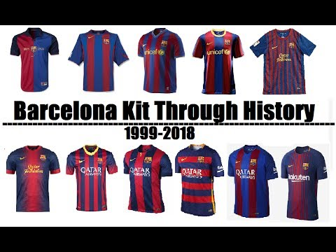 FC Barcelona Kits Evolution Throughout History | 1999-2018