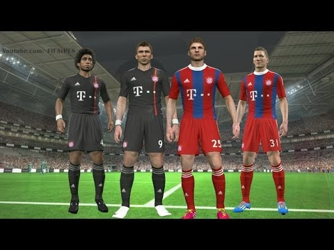 PES 2014 – Bayern Munich New Kits 2014 – 2015 ║ Home/Away ║