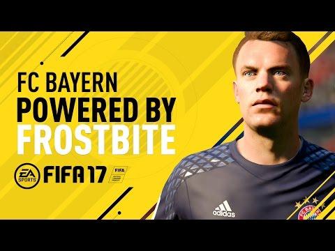 FC Bayern in FIFA 17 ft.  Neuer, Lewandowski, Costa, Coman, and Müller
