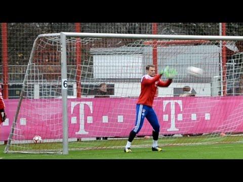 ❶ Manuel Neuer – Goalkeeper training FC Bayern Munich – Part 1