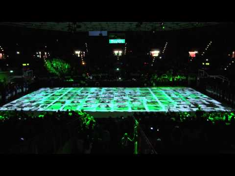 FC Bayern Basketball PreGame 3D Court Projection Mapping