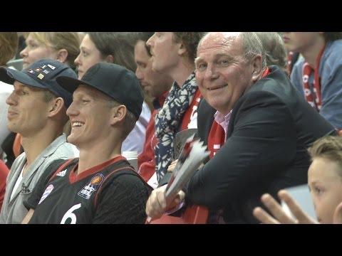 FC Bayern München vs. Alba Berlin: Präsident Uli Hoeneß erlebt grandiosen Basketballabend