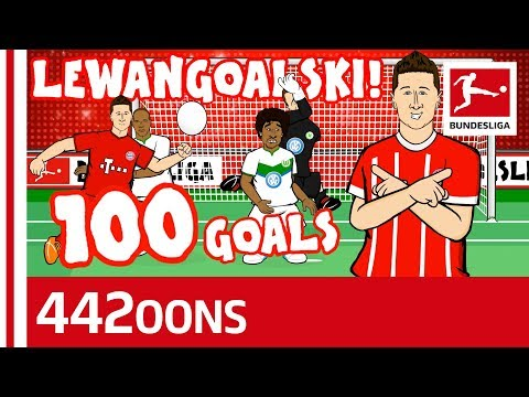 Lewandowski's 100th Goal for Bayern Song – Powered by 442oons