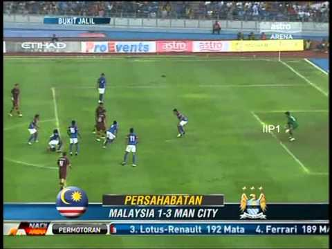 MALAYSIA VS MAN CITY (3-1 ) FULL MATCH REVIEW  2012