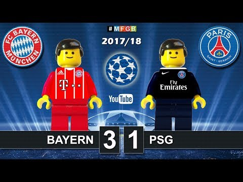 Bayern vs PSG Paris Saint-Germain 3-1 • Champions League 2018 (05/12/2017) Goals Highlights Lego