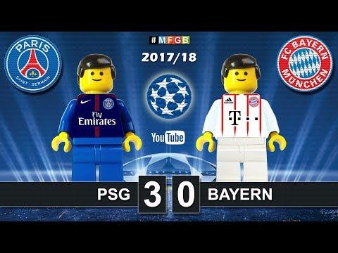 Paris Saint Germain PSG vs Bayern 3-0 • Champions League 2018 (27/09/2017) Goals Highlights Lego