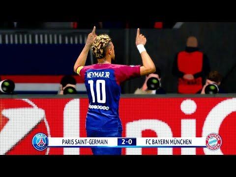 PSG vs Bayern Munich 4-1 (Neymar Scored a Goal) 2018 Gameplay