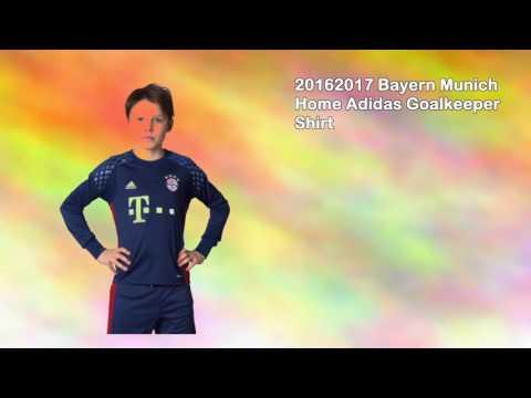 20162017 Bayern Munich Home Adidas Goalkeeper Shirt