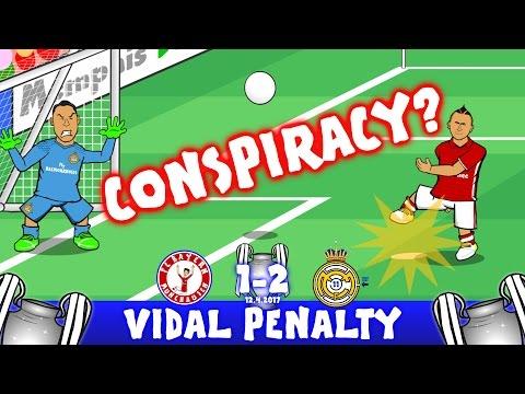 VIDAL CONSPIRACY? 1-2 Bayern Munich vs Real Madrid (Champions League Parody Goals and Highlights)