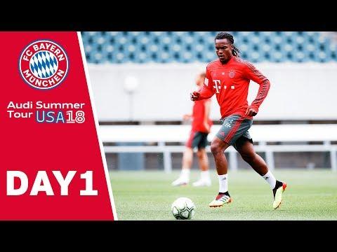 1st Bayern Training in Philadelphia, Ribéry & Alaba visit NFL Stars | USA – Day 1