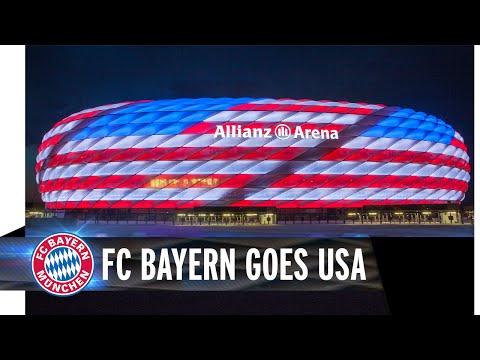 FC Bayern goes USA – Allianz Arena leuchtet in Rot, Weiß und Blau