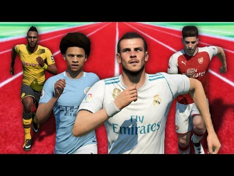 FIFA 18 Speed Test | Fastest Players in FIFA (with ball)