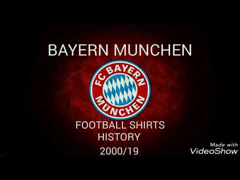 Bayern Munchen football shirts history 2000/19