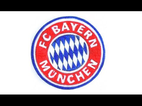 Como desenhar o escudo do Bayern de Munique (FC Bayern München) – How to Draw the Bayern Munich Logo