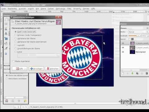 Fußball Wappen Wallpaper Tutorial mit GIMP fc Bayern