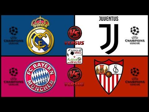 ⚽ REAL MADRID VS JUVENTUS EN VIVO ⚽ BAYERN MUNICH VS SEVILLA EN VIVO ⚽
