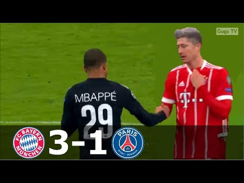 Bayern Munich vs Paris Saint Germain 3-1 – UCL 2017/2018 – Highlights (English Commentary)
