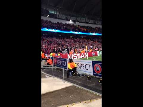 Bayern munich fans at Manchester City 2014