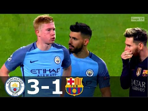 Manchester City vs Barcelona 3-1 – UCL 2016/2017 – Highlighs (English Commentary) HD
