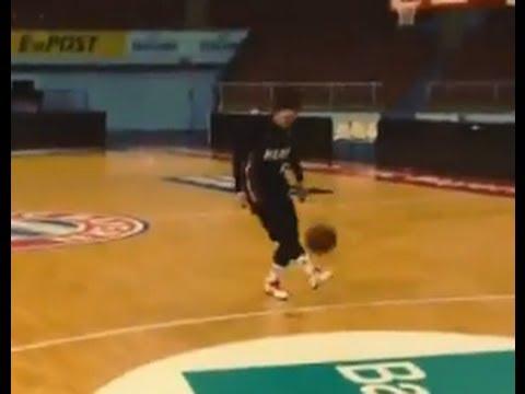 Bastian Schweinsteiger Scores a Magic Goal Basketball (3 Pointer) !