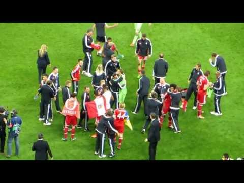 Final whistle and Bayern Munich players' celebration – UCL Final 2013
