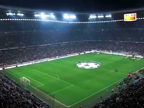 Bayern v Arsenal: Players entrance & Champions League anthem 13/03/2013