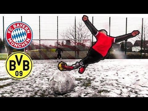 BAYERN vs DORTMUND – Fußball SCHNEE Challenges + Gewinnspiel