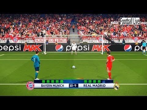 PES 2018 | Bayern Munich vs Real Madrid | UEFA Champions League (UCL) | Penalty Shootout