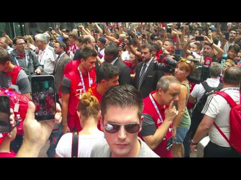 @fcbayern players leaving hotel to Charlotte stadium.