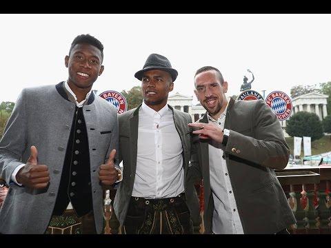 FC Bayern München Players visit Oktoberfest 2016