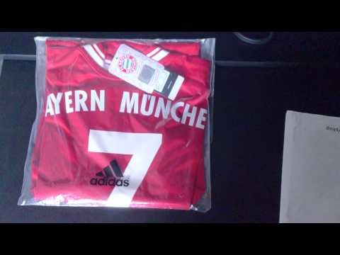 FC Bayern jersey unboxing – home 2013/14 – Wembley Final