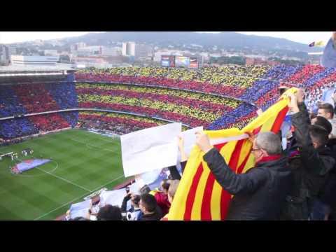 FC Barcelona vs Real Madrid – Camp Nou mosaic + anthem