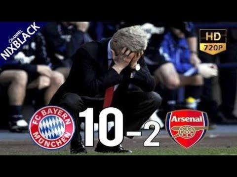Bayern Munich 10-2 Arsenal 2017 UCL Round of 16 1~2 Leg All Goals & Extended Highlight HD/720P