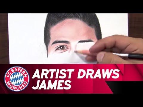 Amazing Drawing of James Rodríguez!🖍🔝 | FC Bayern