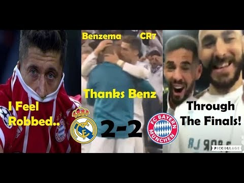 PLAYERS REACTION TO REAL MADRID VS BAYERN MUNICH 2-2 2018 FT. RONALDO AND BENZEMA