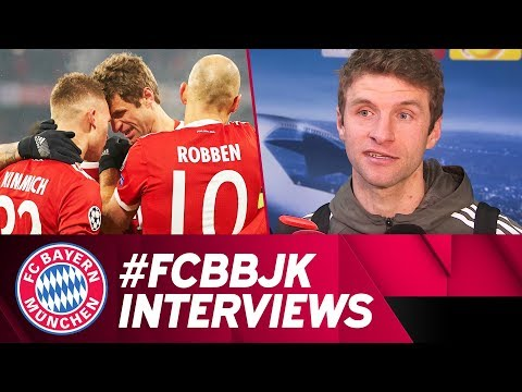 """Have to be ready!"" Müller, Lewandowski, Robben & Ulreich Following Besiktas Victory"
