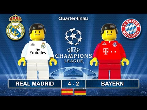 Real Madrid vs Bayern 4-2 • Champions League 2017 (18/04/2017) goals highlights Lego Football