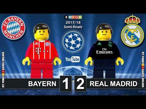 Bayern vs Real Madrid 1-2 • Semi-finals Champions League 2018 (25/04) Goals Highlights Lego Football