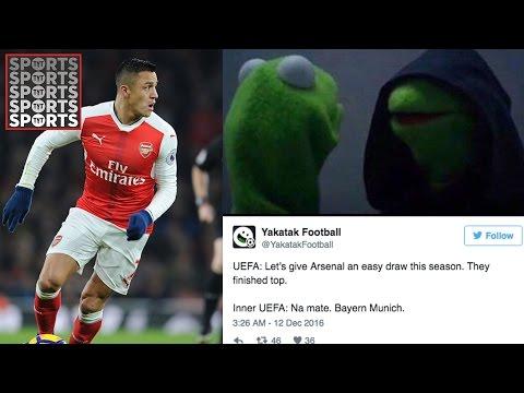 Arsenal Draw Bayern, Hilarious Reaction