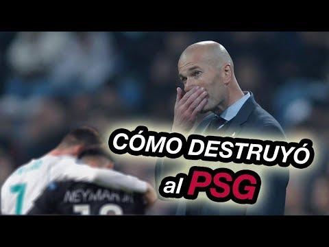Como Zidane Remonto el Partido – Análisis Táctico Real Madrid vs PSG 3-1 Uefa Champions League
