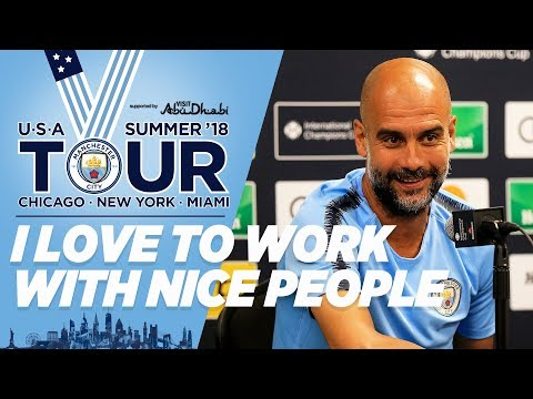 PEP PRESS CONFERENCE | City in the US | Miami | City v Bayern